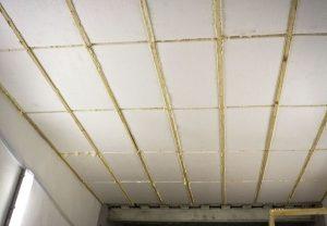 Внутреннее утепление потолка пенопластом