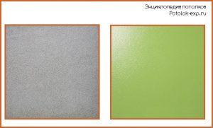 Окрашенный потолок может быть матовым или глянцевым