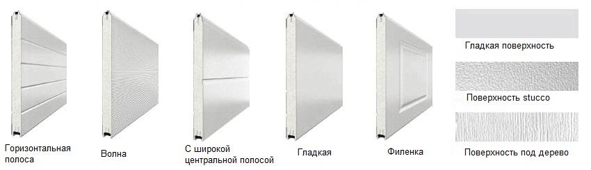 Возможные формы и фактуры ПВХ-панелей