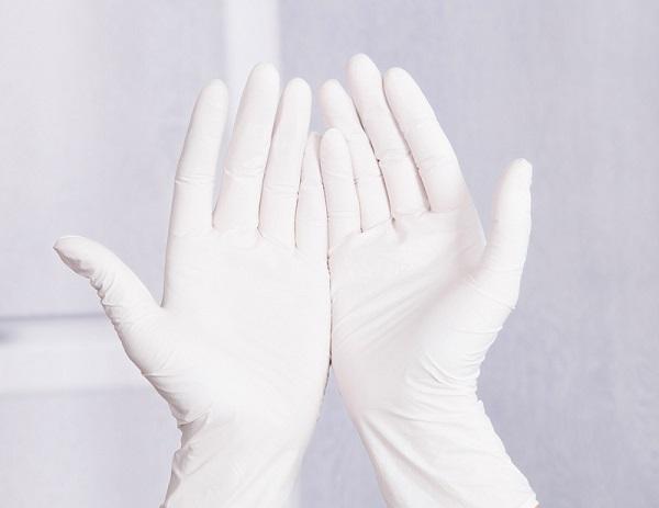 В работе нужно использовать резиновые перчатки