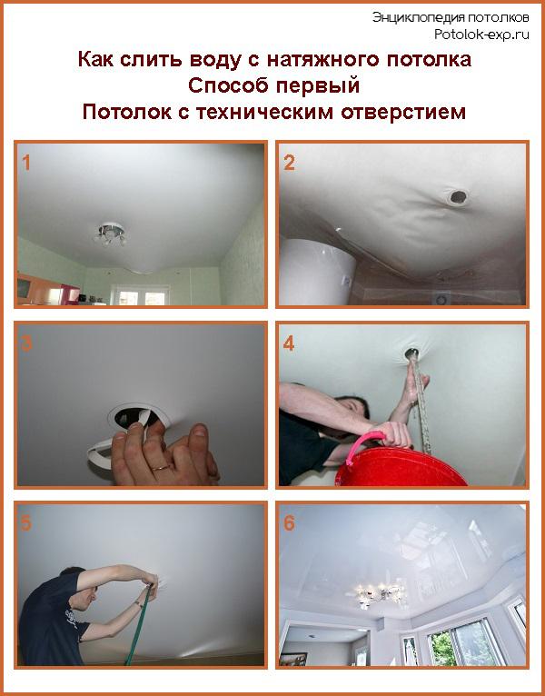 Как сделать отверстие в натяжном потолке после установки 209
