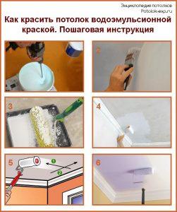 Как красить потолок водоэмульсионной краской. Пошаговая инструкция