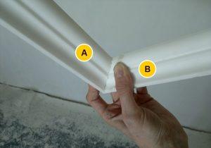 Как сделать плинтуса на потолок (углы)