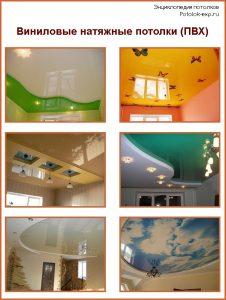 Виниловые натяжные потолки (из пленки ПВХ)