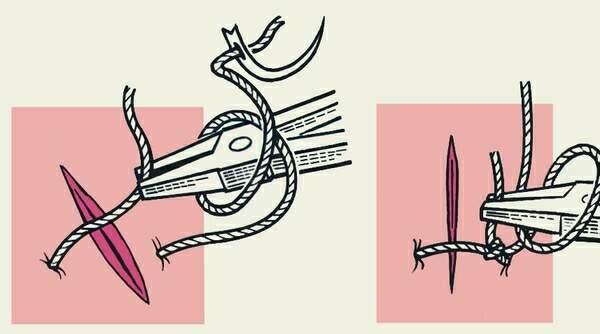 Зашивание тканевого натяжного потолка капроновой ниткой