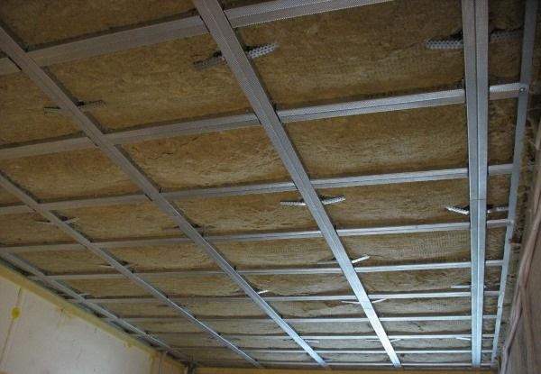 Каркасная технология звукоизоляции потолка