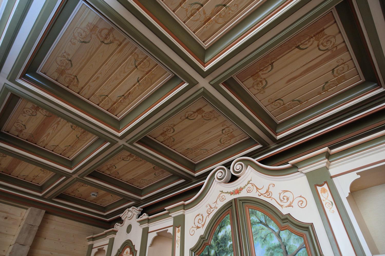 Mонтаж кессона на потолок