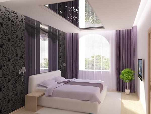 Зеркальный потолок в спальне