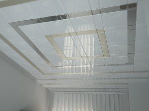 Кассетный подвесной потолок в ванной