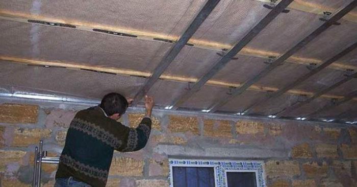 Пароизоляция подвесного потолка