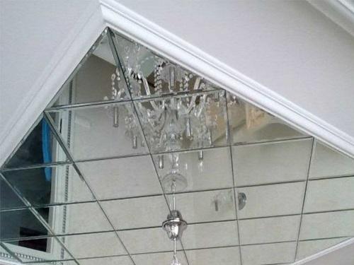 Зеркальная плитка для потолка
