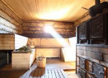 Высота потолка в бане