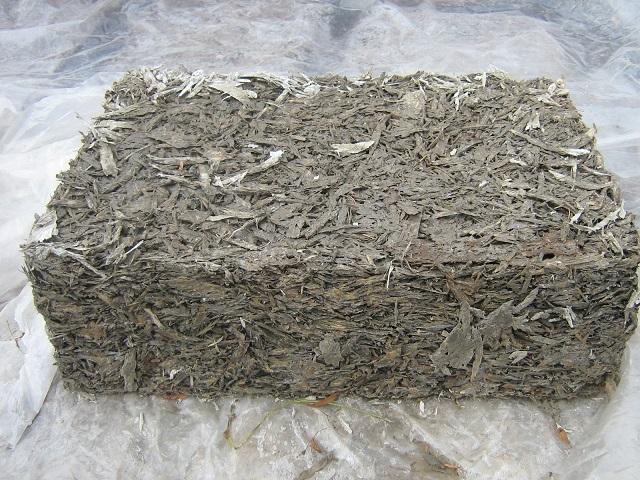 Глиняно-опилочный блок