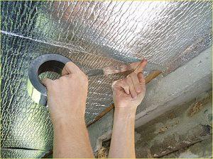 Используйте скотч фольгированный, ширина 50 мм, длина 30 п.м.