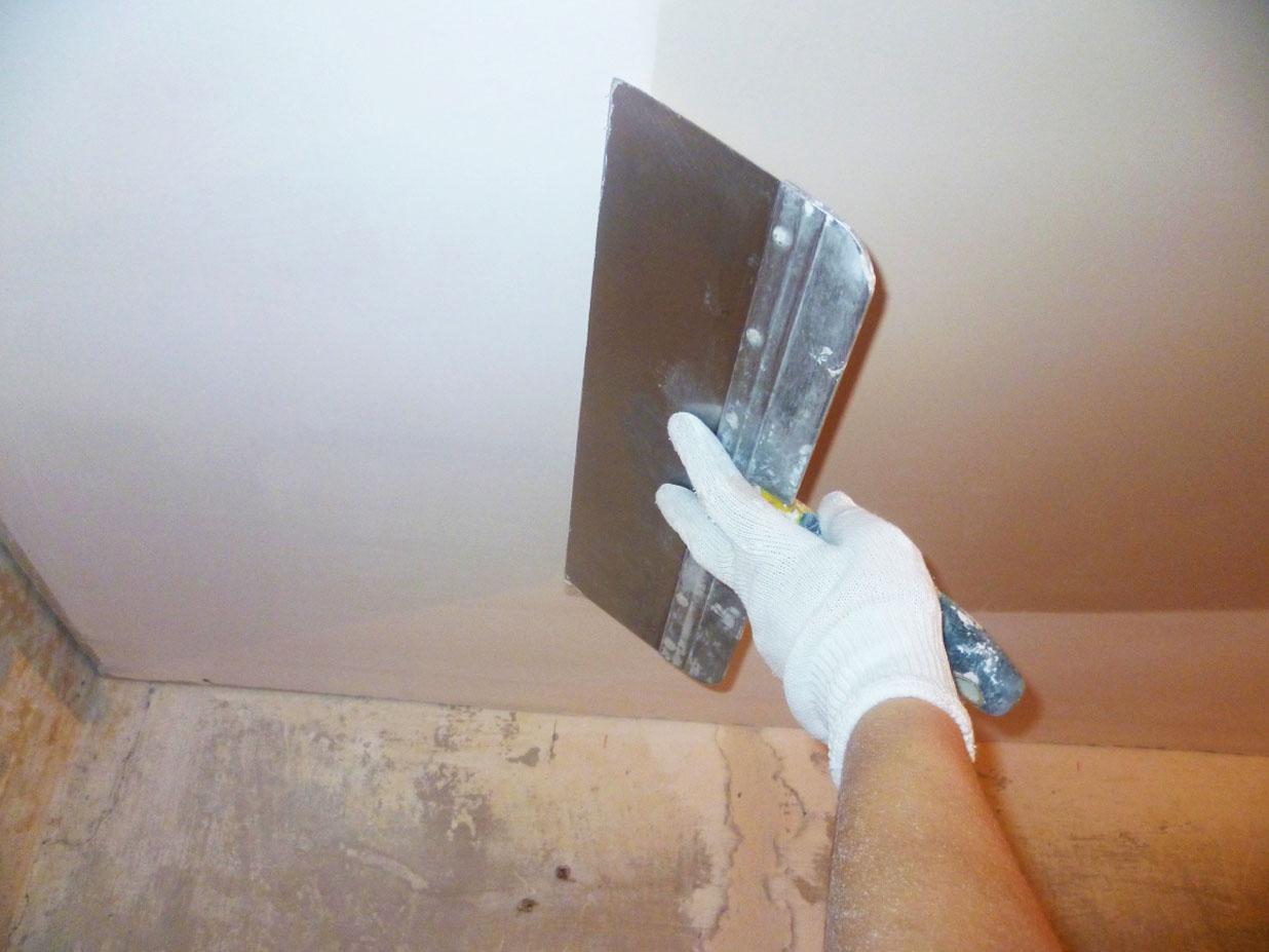 Шпаклёвка потолка своими руками