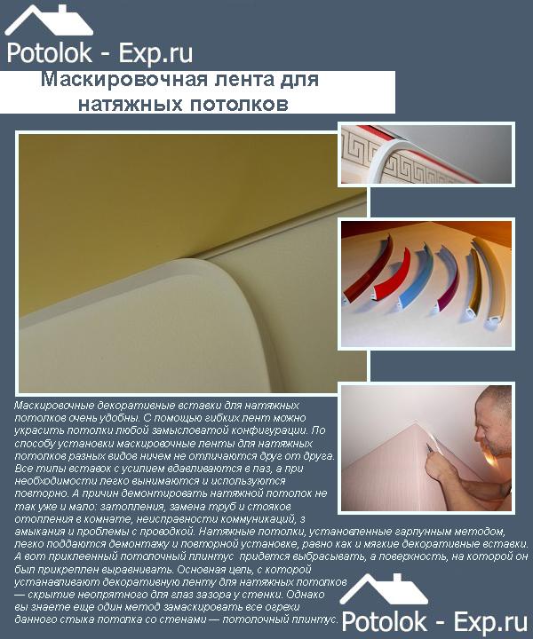 Маскировочная лента для натяжных потолков