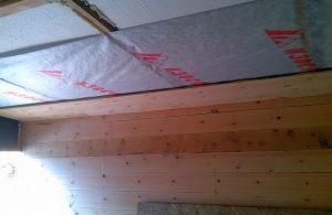 Пароизоляция потолка в деревянном перекрытии
