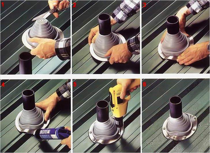 Уплотнение для дымохода своими руками