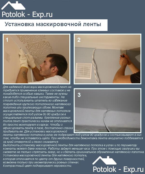 Установка маскировочной ленты