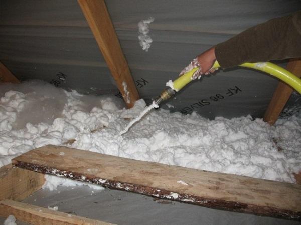 Утепление потолка в бане полиуретаном