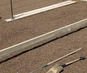Засыпка керамзита с последующим уплотнением - фото, пример