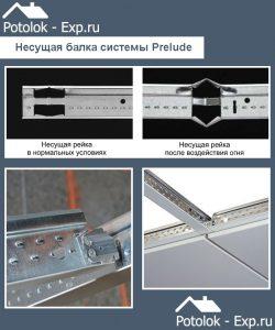 Несущие балки подвесной системы Prelude