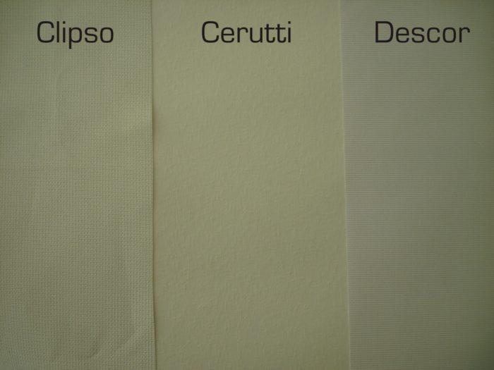 Тканевые натяжные потолки Clipso, Cerutti и Descor