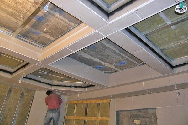 Альтернатива - кессонный потолок из гипсокартона