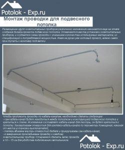 Монтаж проводки для светильников