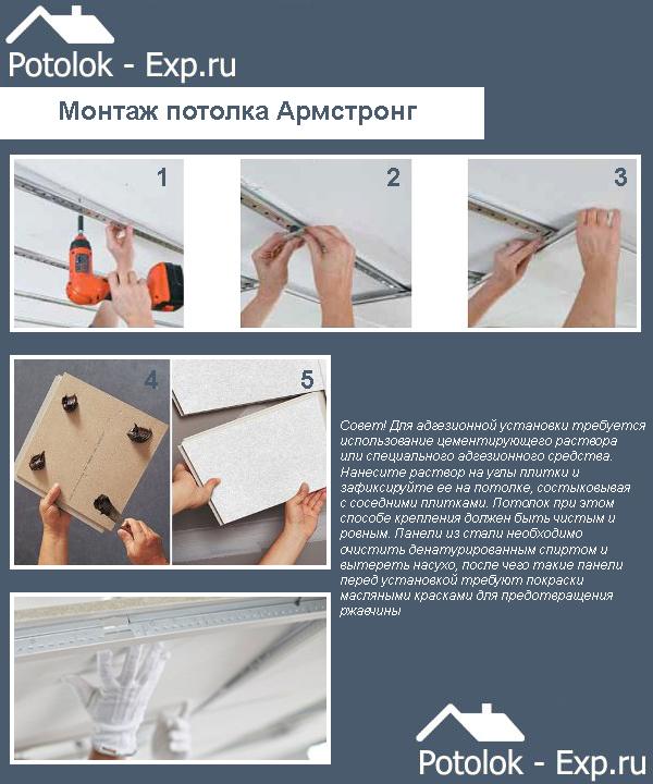 Подвесной потолок своими руками армстронг
