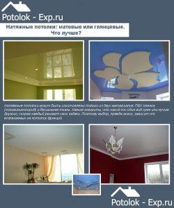 Натяжные потолки: матовые или глянцевые. Что лучше?