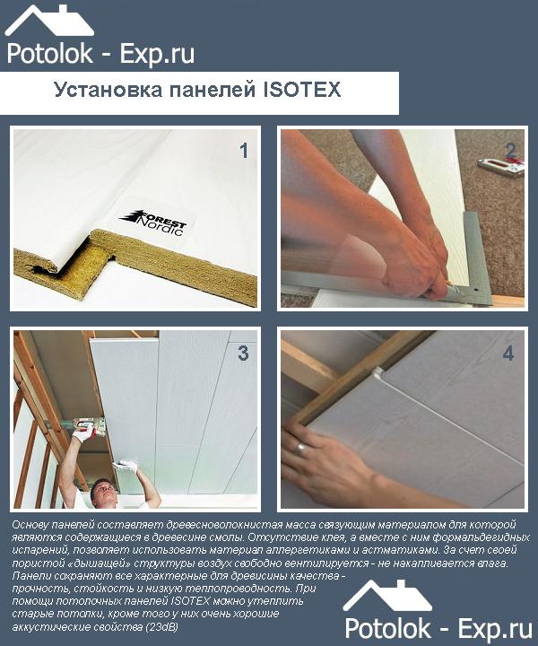 Особенности монтажа панелей ISOTEX