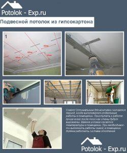 Инструкция по сборке подвесного потолка из гипсокартона
