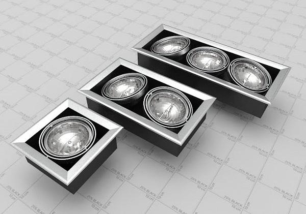 Потолочные споты на 1,2 и 3 лампы
