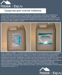 Специальные средства для снятия побелки