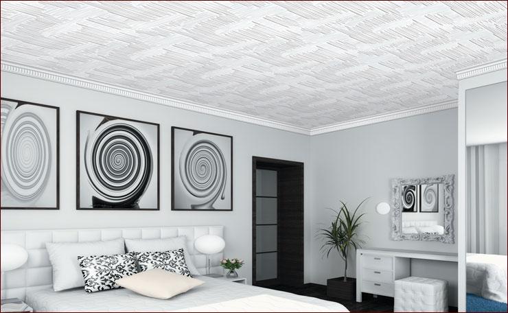 Светлые обои предпочтительнее клеить на потолки в низких помещениях