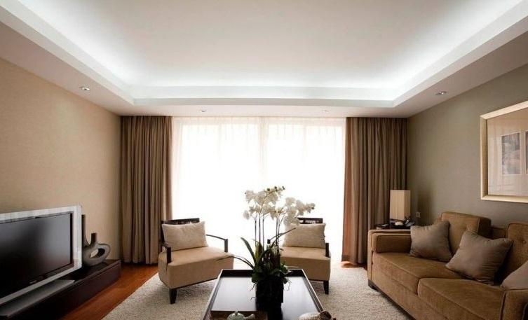 Гипсокартонный подвесной потолок в квартире