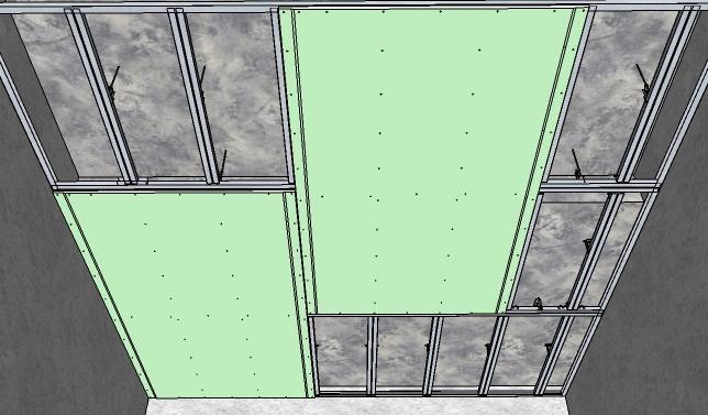 Листы крепим со сдвигом 1250 мм + 2-3 мм на зазор