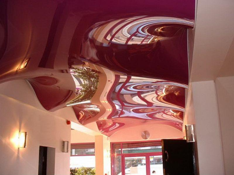 3D потолок в холле