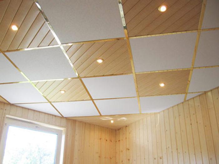 Потолок Армстронг с диагональным расположением элементов