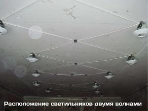 Шаг 4. Монтаж платформ для светильников