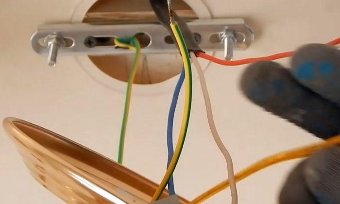 Подключение и установка люстры