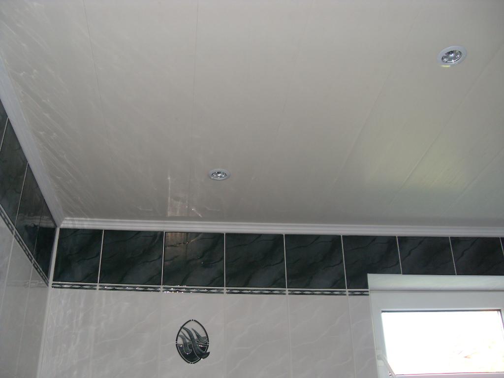 Потолок из пластиковых панелей в туалете