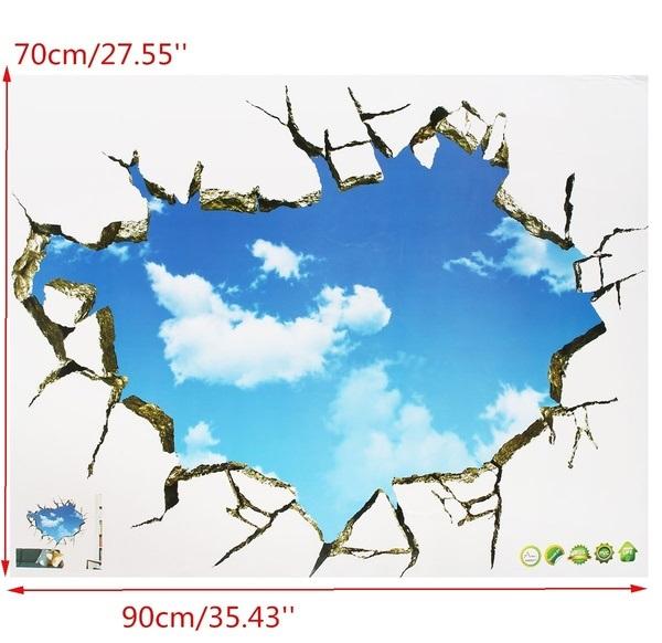 Наклейка Sky 3D Broken Wall Mural