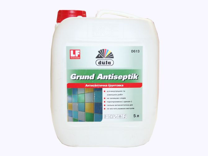 Грунтовка для стен и потолков с антисептиком Dufa, 5 л