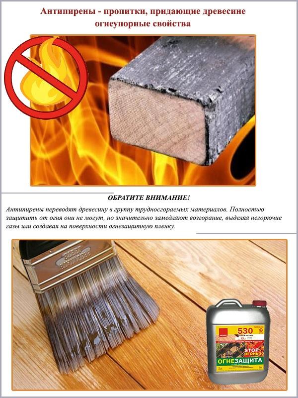 Антипирены - пропитки для придания огнеупорных свойств