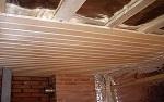 Чем подшить потолок по деревянным балкам?