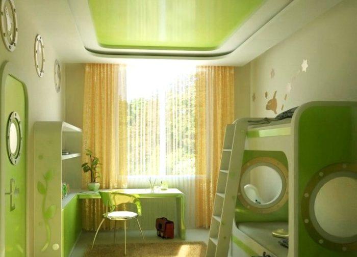 Фото натяжных потолков в детской