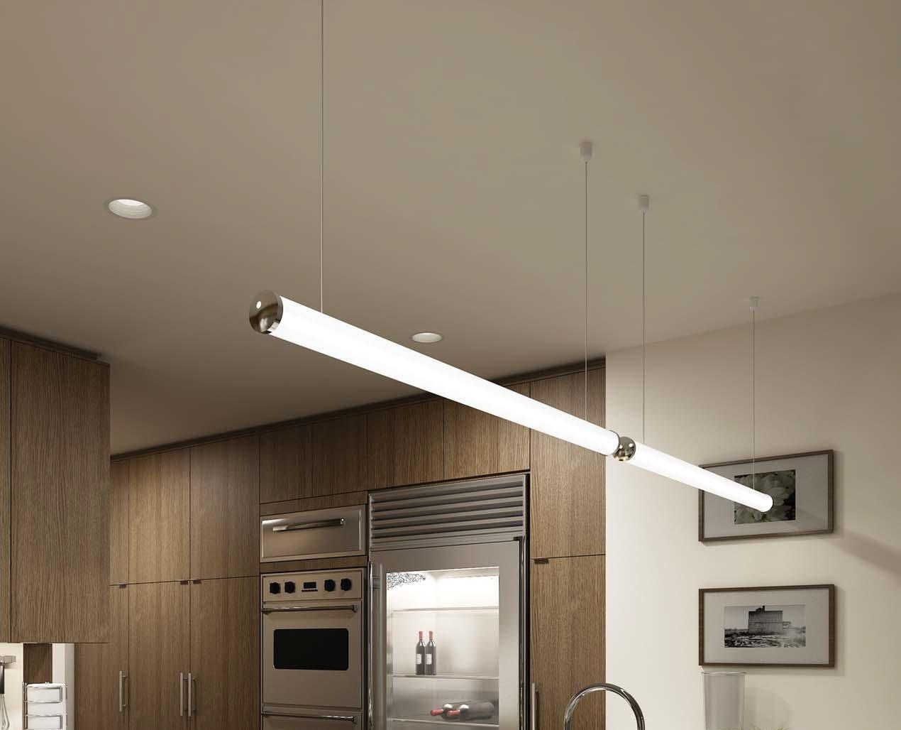 Альтернативный вариант - подвесные линейные светильники