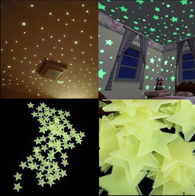 Наклейки на потолок Glow In The Dark Space Star